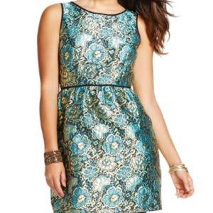 NWT Metallic Floral Dress